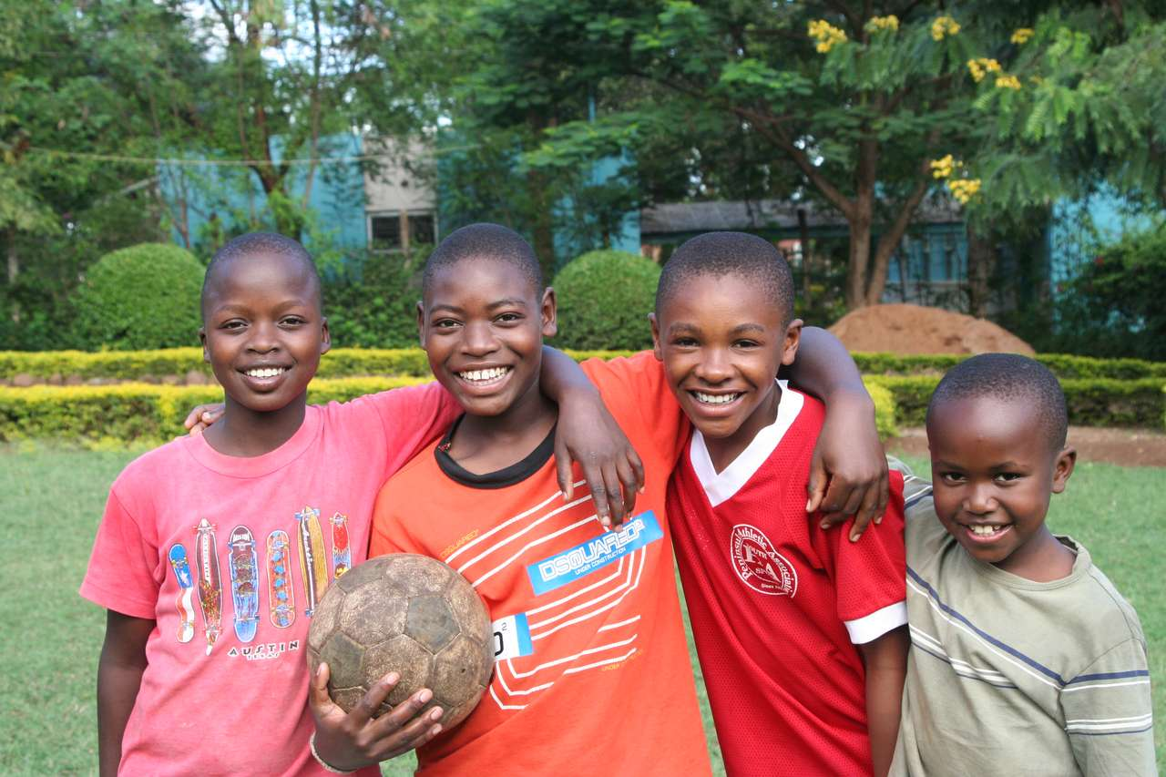Boys with soccer ball from Trasures of Africa